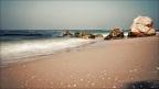 Caesarea-Strand-Wellen-lang-gemalt