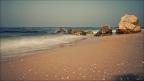 Caesarea-Strand-Wellen-lang