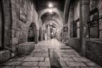 Jerusalem-Altstadt-Gasse-sw -- Israel und Jordanien