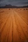 Wadi-Rum-Sand-Weg -- Israel und Jordanien