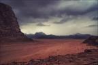 Wadi-Rum-Wolken-Tal -- Israel und Jordanien