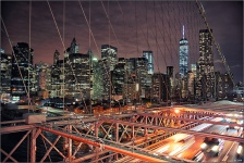 walk on brooklyn bridge DOWNTOWN