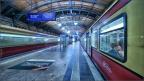 Haltestelle Hackescher Markt - Züge - Langzeitbelichtung