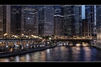 Chicago river night bleach