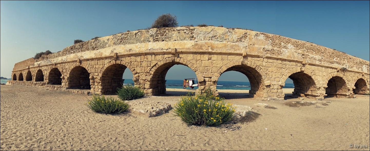 Aquädukt in Cäsarea, Israel