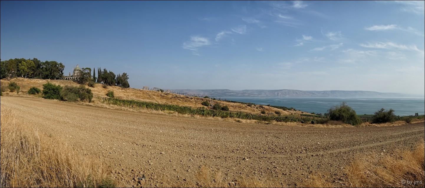 Berg der Seligpreisungen am See Genezareth, Israel