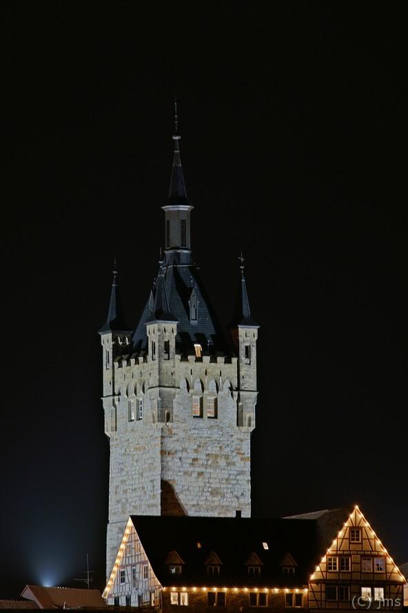 Blauer Turm Bad Wimpfen bei Nacht